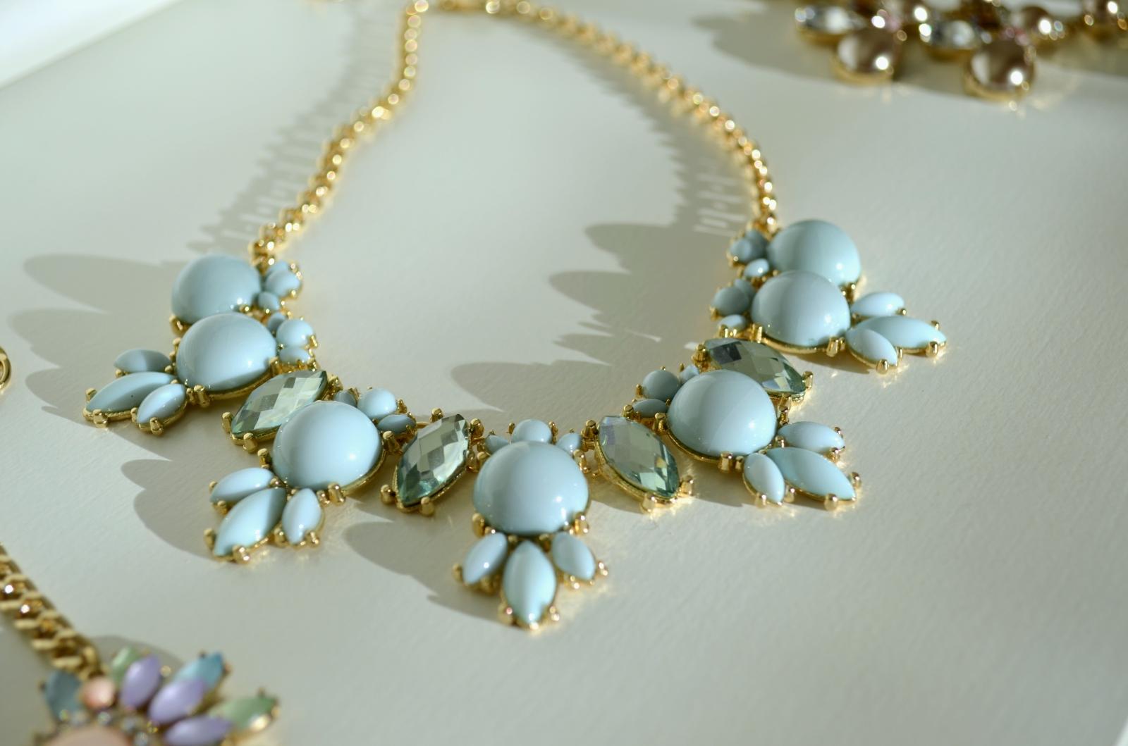 Pastel blue necklace 1